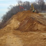 Government project: Slope stabilization by WEC, Westmoreland State Park, Virginia - during construction