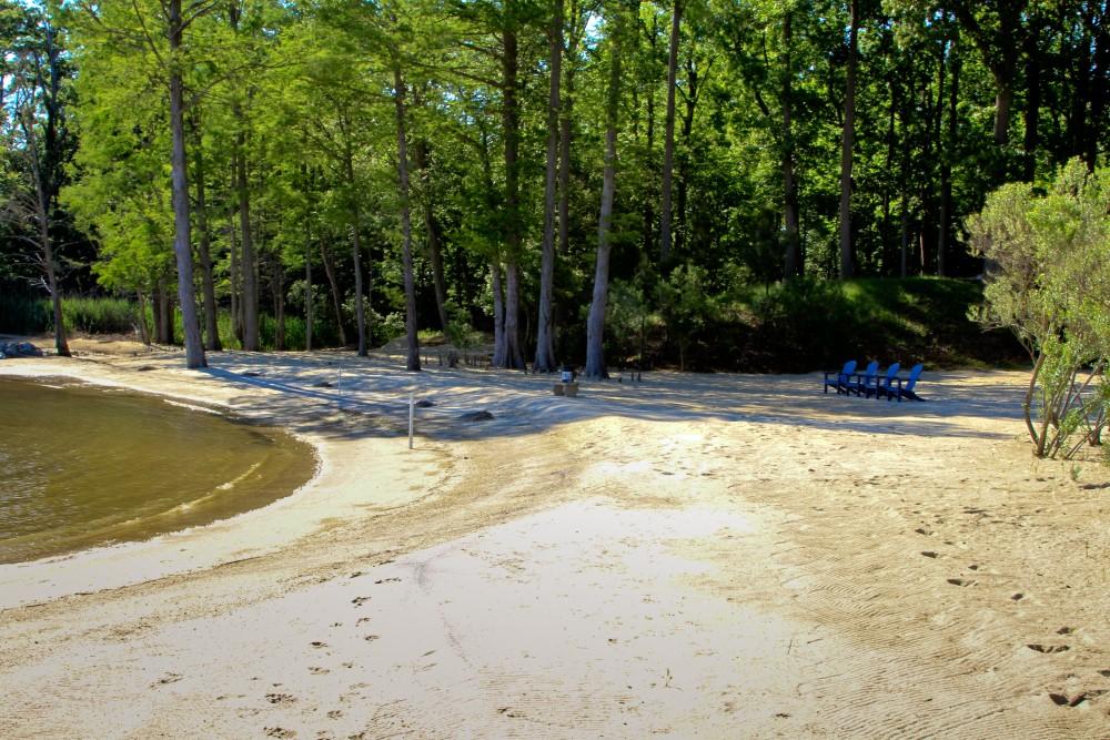 Beach creation - after construction