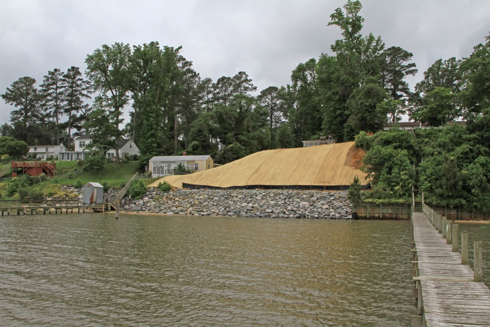 Shoreline stabilization - Sycamore Landing, Croaker, Virginia