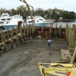 Municipal project for City of Hampton, Virginia: Sunset Creek Boat Ramp during construction.