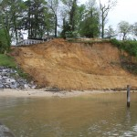 Shoreline Stabilization, Sycamore Landing, Croaker, Virginia - beginning of project.